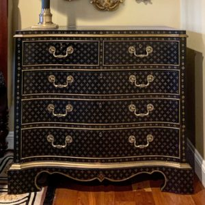 patterned furniture, unique furniture, chest of drawers, estate sale, hunt estate sales, westborough, central mass, worcester county