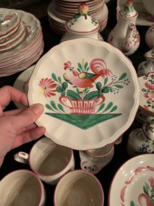 Luneville Faience, Rooster, earthenware, france, french, brookline, boston, hunt estate sales