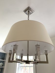 modern lighting, hanging shade, light fixture, polished nickle, second hand shopping, used, second hand, boston, boston shopping, boston real estate, wellesley ma, metrowest, estate sale, unique finds, sustainable, recycle, buy it now, treasure hunt, hunt estate sales