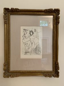salvador dali, etching, surrealist, buy real art, nude, dali, spanish, artist, estate sale finds, downsizing