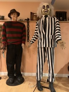 beetlejuice, freddy, vilians, scary movie, thriller, killer, animatronics, halloween, halloween decor